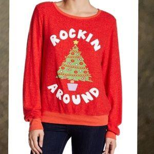 Wildfox Rockin Around Jumper Sweatshirt XS